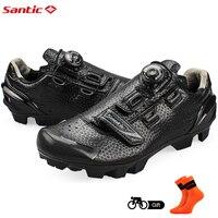 Santic Erkekler Bisiklet MTB Ayakkabı Bisiklet MTB Ayakkabı için Atletik Yarış Ekibi Bisiklet Ayakkabı Nefes Bisiklet Giysiler S12025H