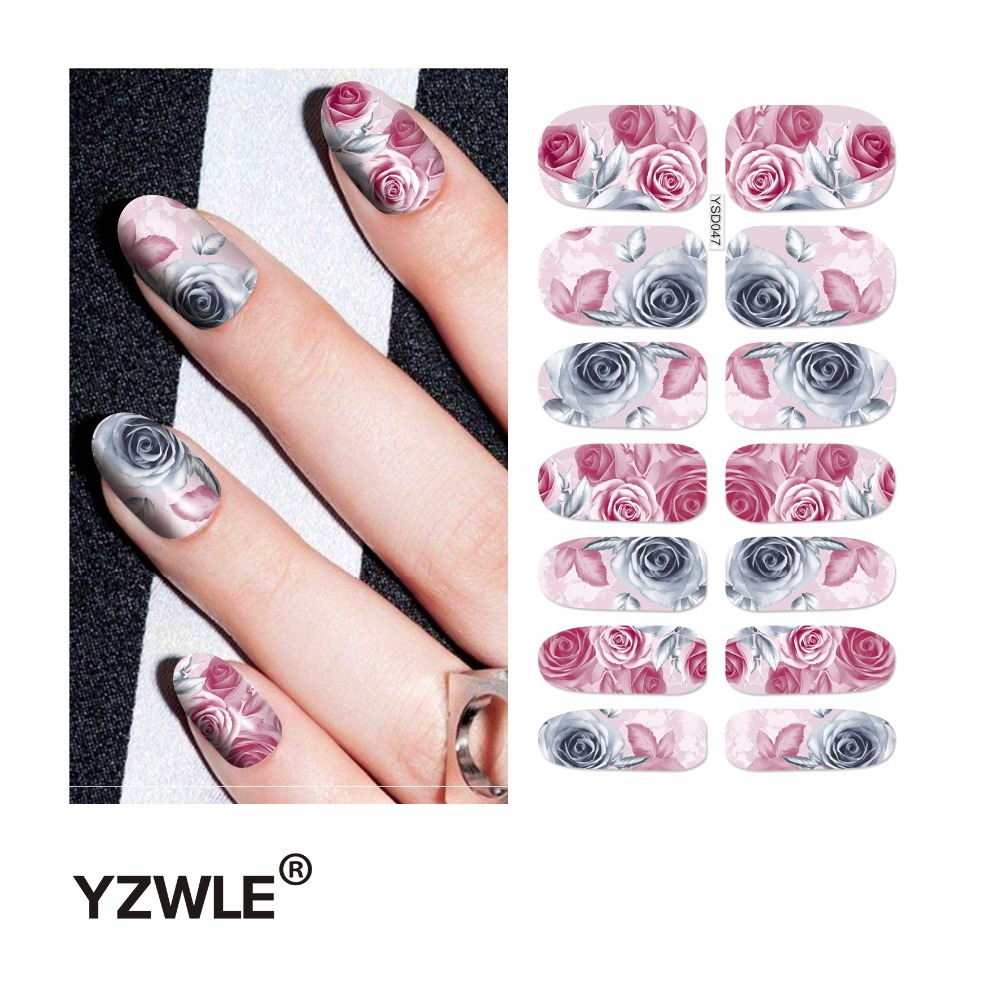 YZWLE 1 Sheet Water Transfer Nails Art Sticker Manicure Decor Tool Cover Nail Wrap Decal (YSD047) yzwle 1 sheet water transfer nails art sticker manicure decor tool cover nail wrap decal ysd058