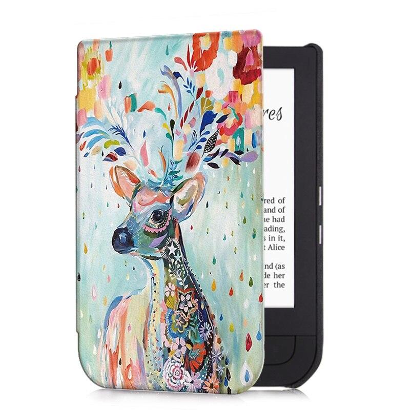 Aroita All-nova Moda Pintado Caso para Pocketbook 631 Toque HD/Touch HD 2 E-book com Auto Wake /sono Smart Cover