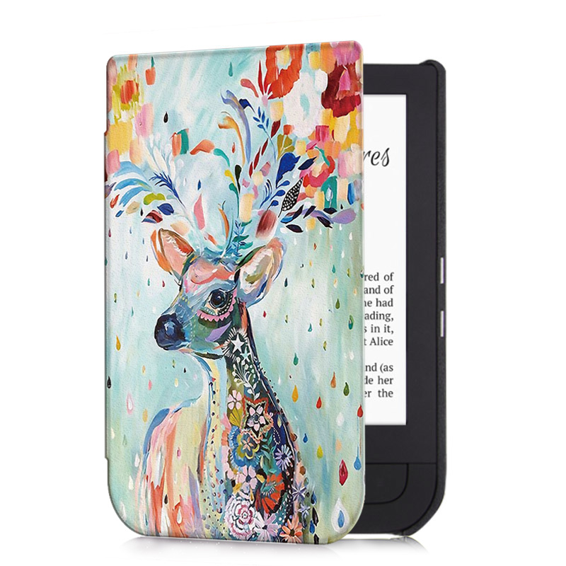 Aroita All-new Fashion Painted Case for Pocketbook <font><b>631</b></font> Touch HD/Touch HD <font><b>2</b></font> E-book with Auto Wake/Sleep Smart Cover image