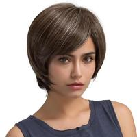 26cm 1pc Natural Light Brown Straight Short Hair Wigs Short Women's Fashion Wig New 17July13