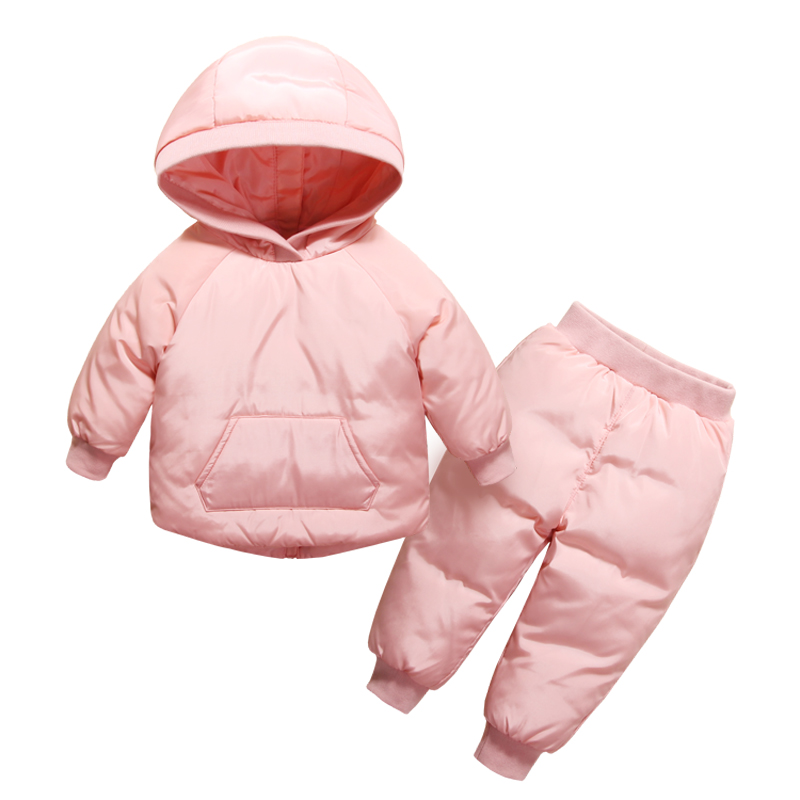 Winter Baby Girls Clothes Sets Children Down Jackets for Boys Kids Snowsuit Warm Baby Ski Suit Down Outerwear Coat+Pants цена