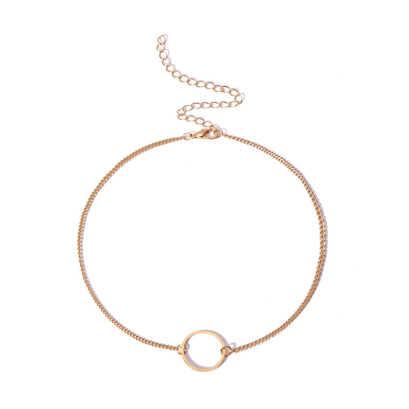 19 Choker Necklace for Women gold Silver bead Chain Smalll round Necklace Pendant on neck Bohemian Chocker Necklace Jewelry 31