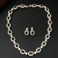 Luxuious Real Austria Crystal Women Wedding Bouquet Necklace Earrings Jewelry Sets