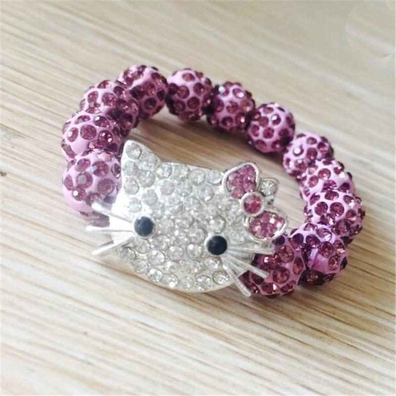 1 SZTUK Hello Kitty Bransoletki dla dzieci Handmade Rope Chain Wrap - Modna biżuteria - Zdjęcie 6