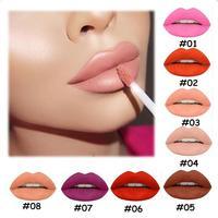 POPFEEL Cosmetic 8pcs Set Smooth Waterproof Moisturizing Matte Liquid Lipstick Lip Gloss Make Up Set