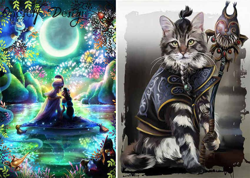 Brilliant 2019 Diy 5d Diamond Painting Flying Carpet Diamond Mosaic Sale Cartoon Cat 5d Diamond Embroidery Magic Cartoon 3d Diamond Mosaic Reborn Dolls & Bears