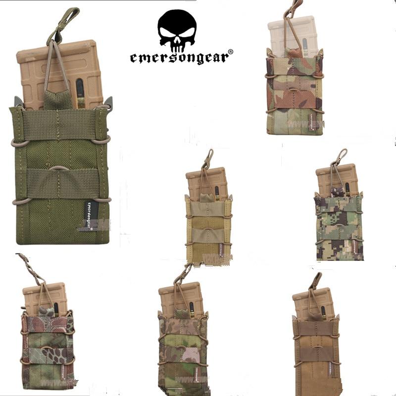 EMERSON Single Unit Magazine Pouch Military Army Utility MOLLE Vertical Accessories EM6345 Khaki Brown Black