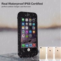 5.5inch Full 4800mAh Waterproof IP68 Power bank case pack backup battery Charge case for iPhone 6 plus/6s plus/7 plus/8 Plus
