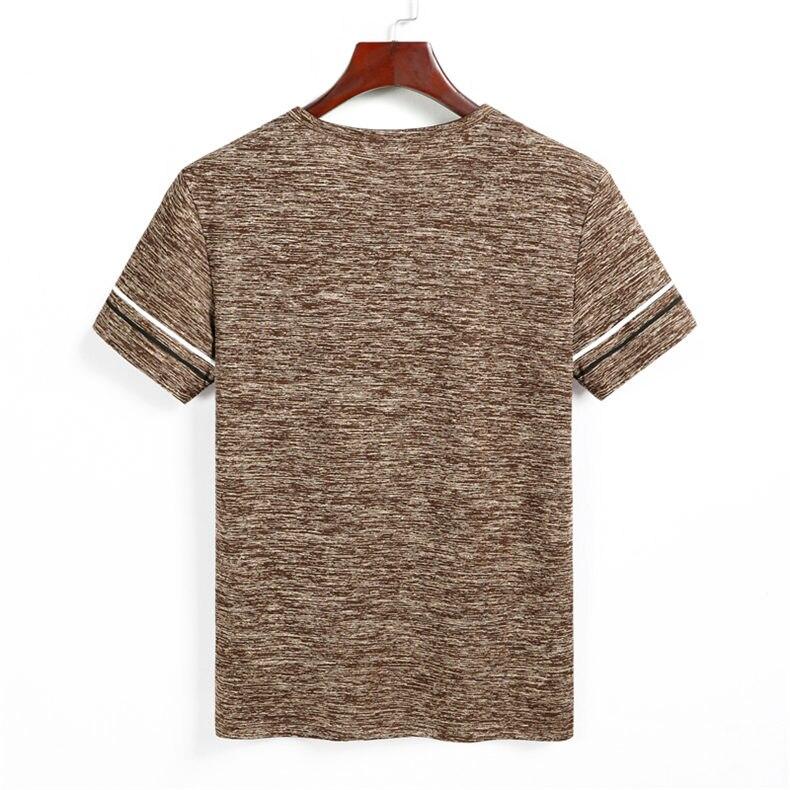 9XL Summer T shirts Men Clothing Polyester Plus Size 5XL 6XL 7XL 8XL Male Tshirts Breathable Short Sleeve Strip Top Tees O-Neck 04