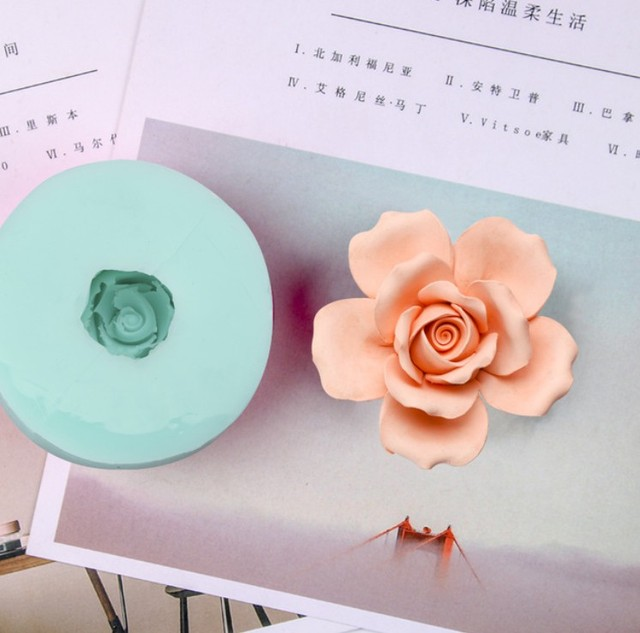 7e5d52ee2 HC0029 Silica gel 3D molds ROSE silicone soap mold FLOWERS candle mold  aroma mould handmade soap