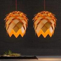 Nordic personalidade criativa pinho lustre de madeira maciça