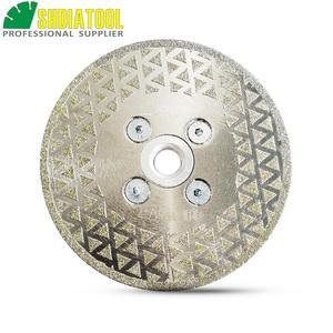 "SHDIATOOL 4"" Electroplated diamond cutting grinding disc M14 flange Diameter 100MM saw blade for granite marble ceramic(China)"