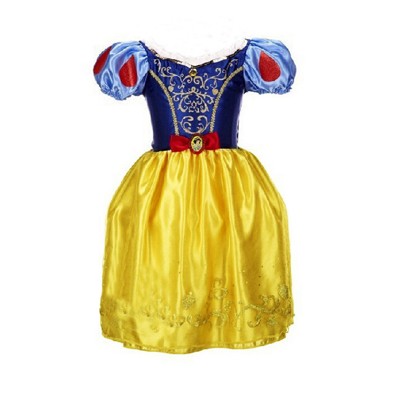 Summer Children Clothes Baby girls dresses Snow White Dress Party Princess Girls Dresses Cosplay Costume dress High quality princess cinderella girls dress snow white kids clothing dress rapunzel aurora children cosplay costume clothes age 2 10 years