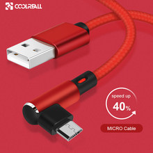 Coolreall 90 Derajat Kabel Micro USB Fast Charger Kabel Data Dikepang Kabel USB Ponsel USB Kabel Charger untuk Samsung huawei(China)