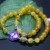 Nuevo 8 mm dragón amarillo ágata rebordea la pulsera para mujeres regalos para mujer pulsera de la mariposa moda de piedra Natural de la joyería que hace diseño