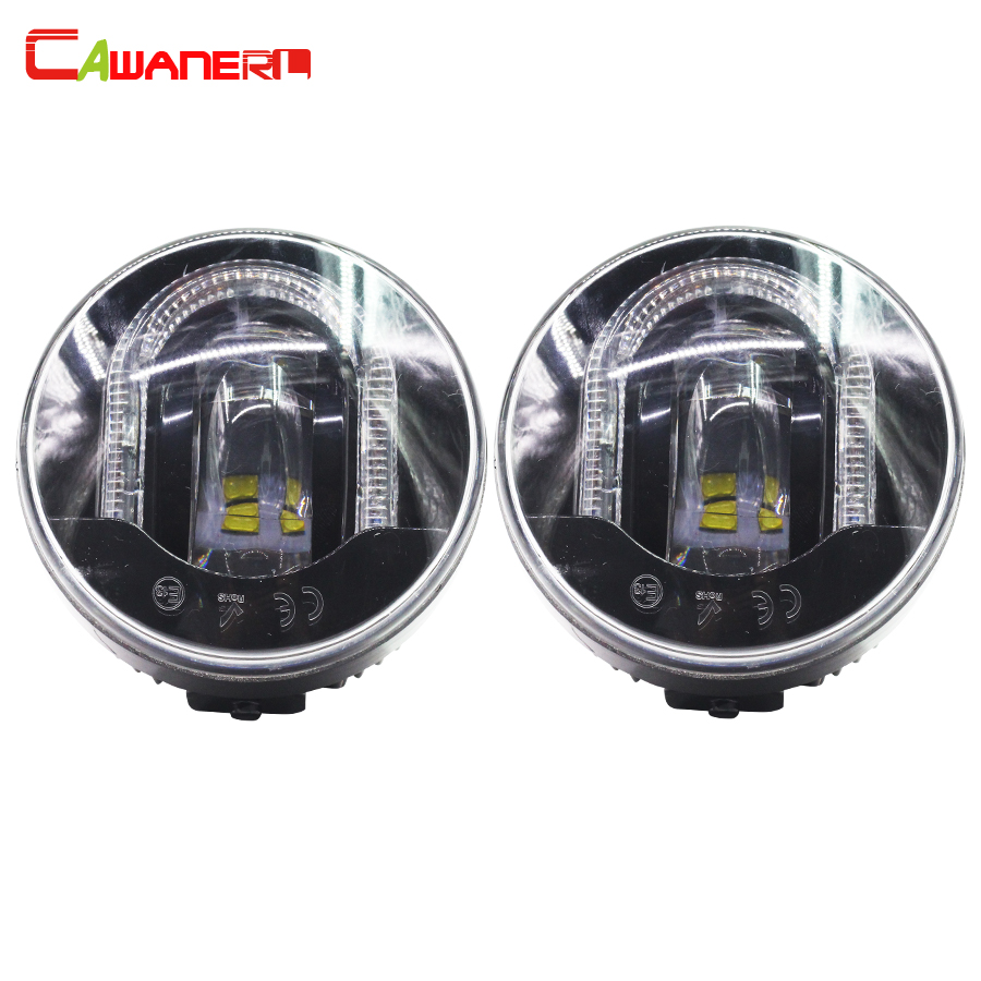 Cawanerl For Land Rover Range Rover Sport Freelander 2 Range Rover Discovery 4 Car LED Fog Light Daytime Running Lamp DRL 12V leather car seat covers for land rover discovery sport freelander range sport evoque defender car accessories styling