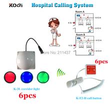 Bezprzewodowy pielęgniarki otrzymać telefon zwrotny od służb ratowniczych otrzymać telefon zwrotny od systemu K-F2-H dzwonek recepcyjny dla pacjenta i K-3L korytarz światła dla pielęgniarki z zewnątrz tanie tanio Ycall K-3L+F2-H 300M 433 92MHZ With separate output power supply Red Blue Green DI-DI sound 78*78*60mm 30pcs Wireless nurse call emergency service call system