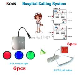 Bezprzewodowy pielęgniarki otrzymać telefon zwrotny od służb ratowniczych otrzymać telefon zwrotny od systemu K-F2-H dzwonek recepcyjny dla pacjenta i K-3L korytarz światła dla pielęgniarki z zewnątrz