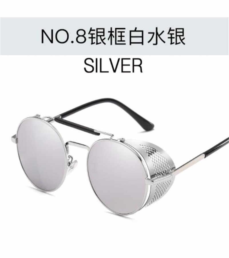 جديد الكبار Steampunk نظارات شخصية الزجاج الأمامي ركوب في الهواء الطلق النظارات الشمسية الرجعية لون الفيلم عاكس الضفدع مرآة