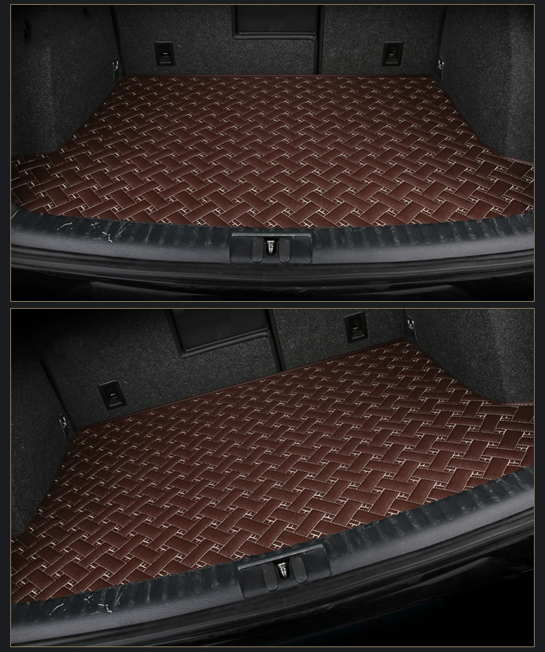 Special car trunk mats for Peugeot 308 3008 RCZ 206 207 307 407 408 508 2008 4008 5008 301 waterproof durable cargo boot carpets 3d trunk mat for peugeot 508 waterproof car protector carpet auto floor mats keep clean interior accessories