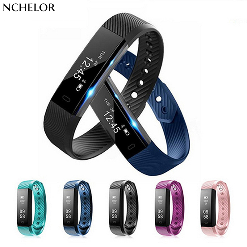 ID115 Smart Armbånd Fitness Tracker Trin Counter Activity Monitor - Mænds ure - Foto 1