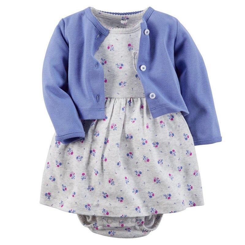 秋の赤ちゃん女の子服セット春新生児ベビー服roupa乳児ジャンプスーツコットンベビー女の子服ベビーロンパース+ジャケット