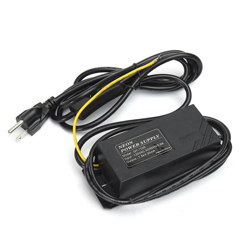 7500 V 7.5KV 30mA Haute Fréquence Néon Transformateur Électronique Alimentation Redresseur Kit 50Hz/60Hz 0.6A AC 120 V Avec ON/Off