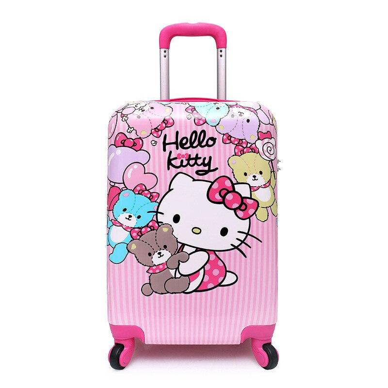 """16 """"valigia, Delle Anime Dei Bambini Del Fumetto Trolley, Studente Di Scuola Elementare Trolley Zainetto, One-way Ruota Bambino Di Imbarco Dei Bagagli"""