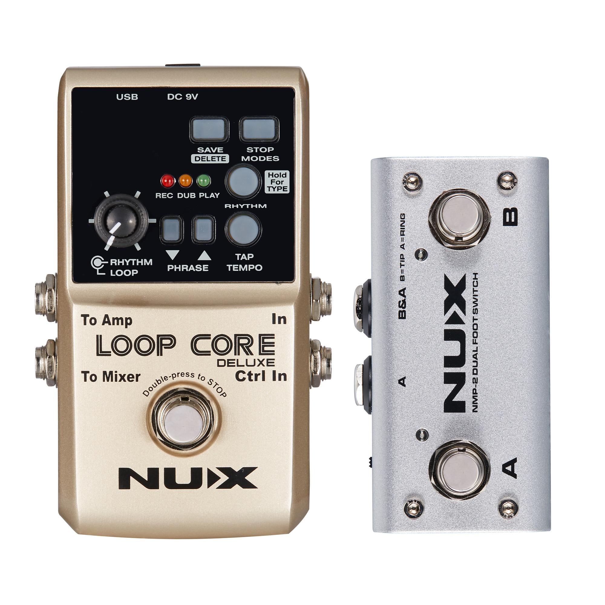 NUX Boucle Core Deluxe Pédale 24-peu Arpenteuse Pédale 8 Heures D'enregistrement Intégré 40 Rythmes de Tambour Électrique Guitare accessoires