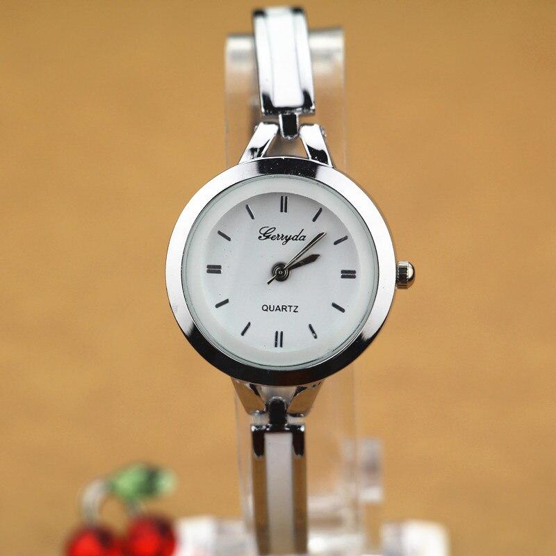 Бесплатная доставка! стиль браслет цепь леди часы, позолота корпус из сплава, простой дизайн циферблат, пояса металлической цепью, кварцевы...