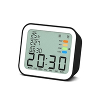 High Quality Digital Alarm Clo Ck Black Optional Snooze Function Humanized Design Travel Clock Home Travel