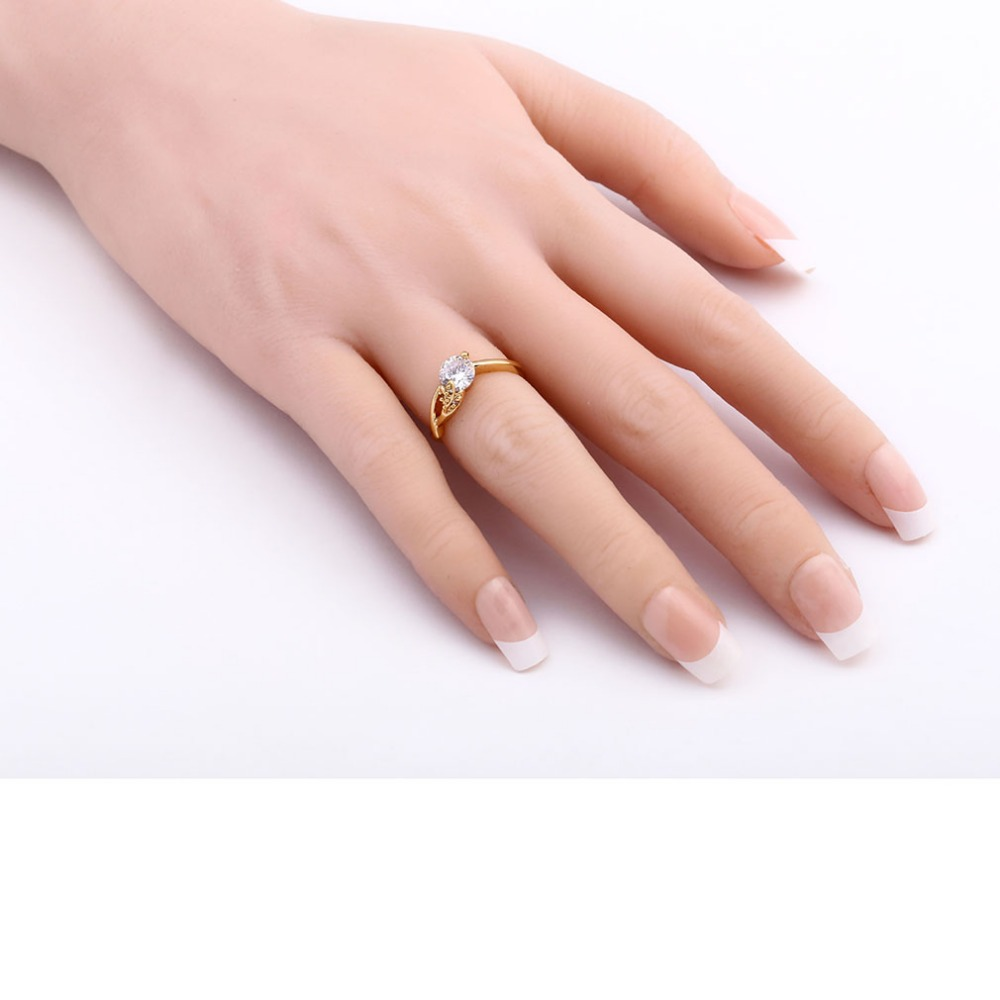 Aliexpress.com : Buy Cubic Zirconia Crystal Wedding Rings Jewelry ...