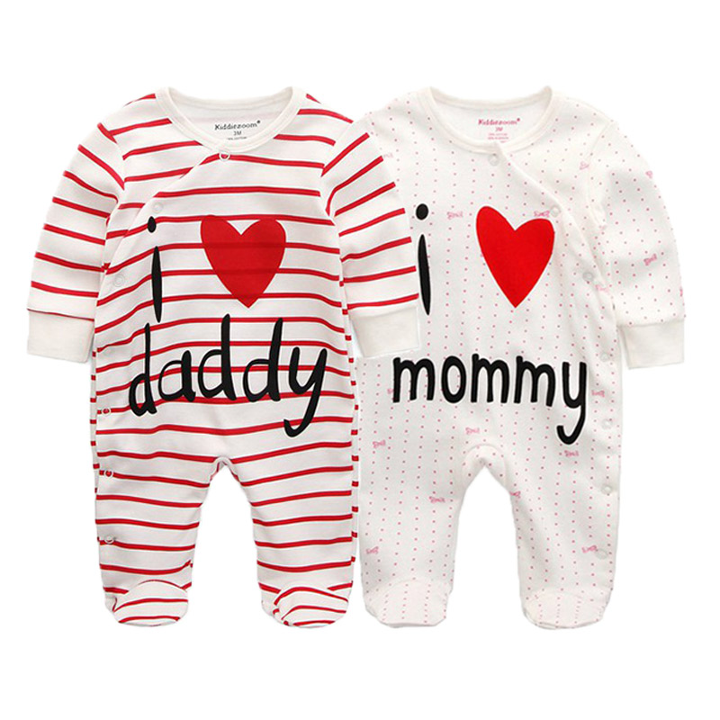 Image 2 - 2 PCS/lot newborn long sleeve winter baby rompers jumpsuit 2019 baby rompertjes cotton ropa bebe baby boy girl clothesRompers   -