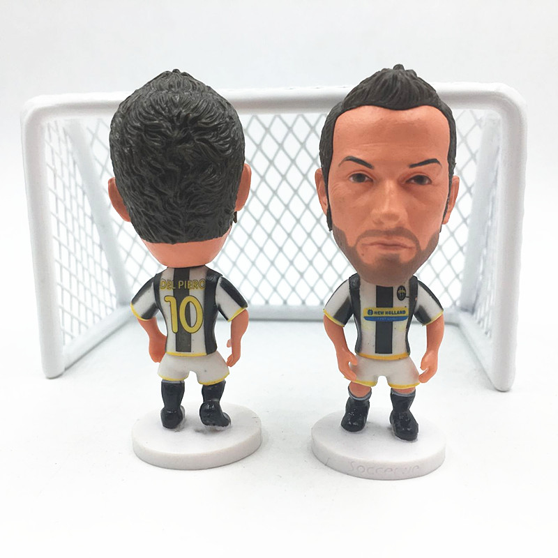Soccerwe Action Series 10 Del Piero Doll ( JUV Souvenir ) White Black muñeco buffon