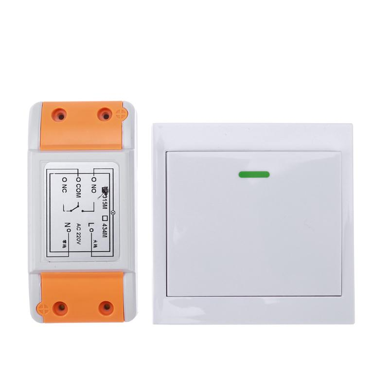 New 220V 315/433 1CH Remote Switch Receiver Wall Transmitter Wireless Power Switch 315/433 Radio Controlled Switch Relay