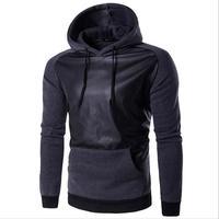2017 Hoodies Mens Hombre Hip Hop Male Brand Hoodie Fashion Geometric Print Sweatshirt Suit Men Slim