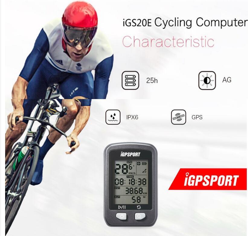 IGPSPORT Bike Computer Stopwatch Bicycle Computer IPX6 Waterproof IGS20E GPS