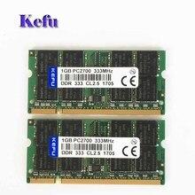 2Pcs  2x1GB PC2700 DDR333 333Mhz 1gb pc2700 ddr1 333mhz 200pin DDR1 Sodimm Laptop Memory RAM Notebook