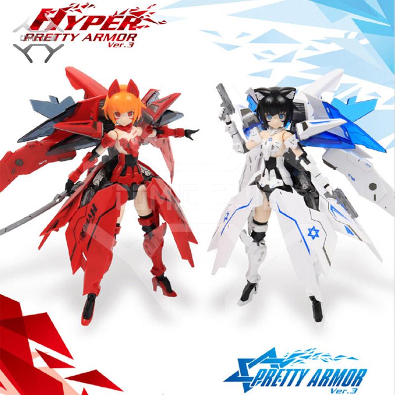 COMIC CLUB IN-Stock PA Pretty Armor Ver.3 Ms Girl Hyper Red/White Motorcycle Girl Plastic Assemble model kit Anime Toys Figure