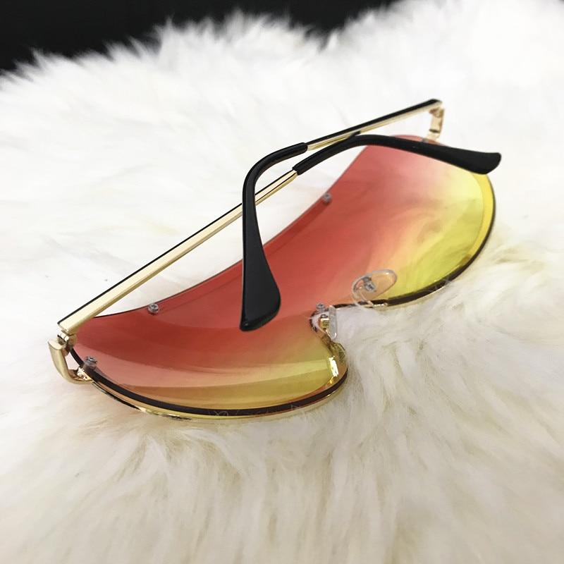 Rimless Gold Clear Sunglasses Men Women Brand Designer Aviator Clear Sunglasses 21