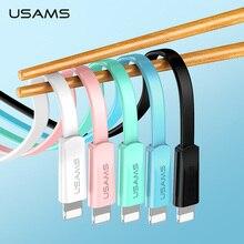 USAMS USB כבל טעינה מהירה נייד טלפון כבל עבור iPhone XS XR 2A טעינת נתונים Sync עבור iPhone 8 iPad כבל עבור iOS 12