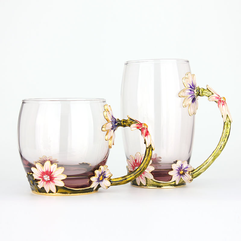 european cup office coffee. New Hand Painted European Glass Tea Water Cup Drinking Ware Glasses Home Office Coffee Milk Flower Cups Mug For Gift On Aliexpress.com | Alibaba A