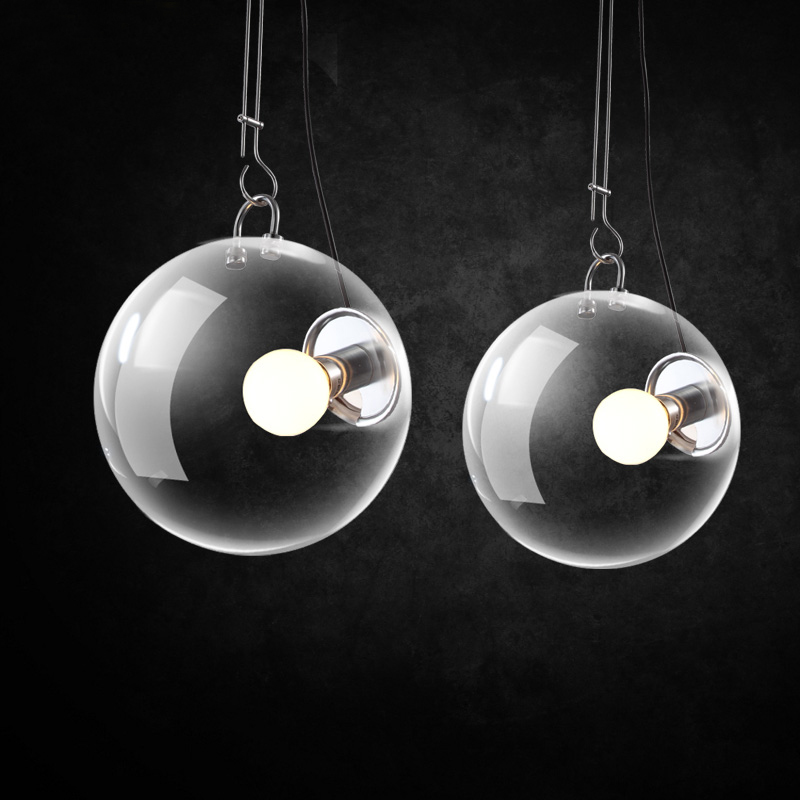 Soap bubble LED pendant modern simple dining room bedroom study glass lighting classic modern soap bubble creative wall lamp bedroom study bedside soap bubble wall light free shipping