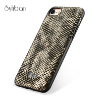 For IPhone7 8 Plus Mobile Phone Bag Accessory Fashion Real PU Ultra Back Cover Case 4