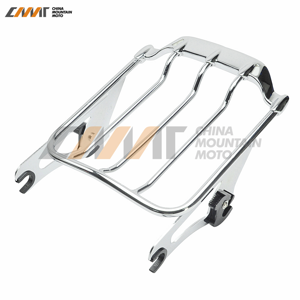 Air Wing Detachables Two-Up Luggage Rack case for Harley Street Glide Road King 09-17 partol black car roof rack cross bars roof luggage carrier cargo boxes bike rack 45kg 100lbs for honda pilot 2013 2014 2015