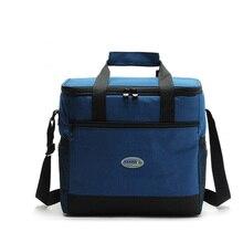 16l утолщенная Складная, сохраняющая свежесть, водонепроницаемая нейлоновая сумка для обеда, сумка-холодильник для стейка, теплоизоляционная сумка, изолирующая упаковка для льда