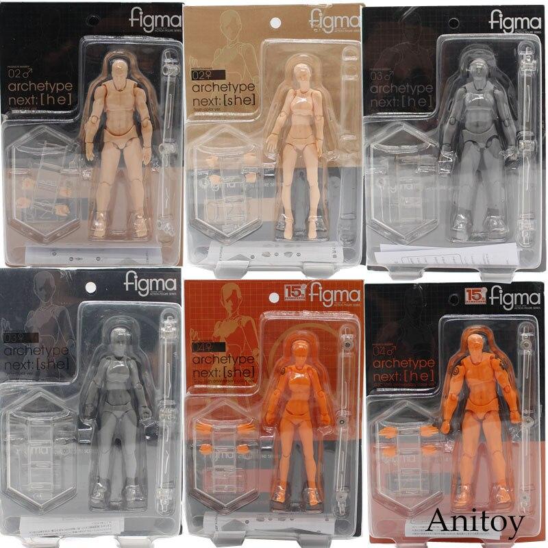 Figma KÖRPER KUN/KÖRPER CHAN Grau Orange Gelb PVC Action Figure Modell Spielzeug 14 cm KT3739