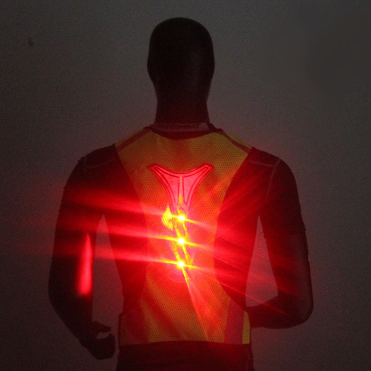 NEW LED Reflective Safety Vest for Night Running Cycling Breathable High Visibility fluorescence yellow high visibility