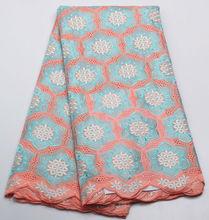 Afrikanische Schweizer Voilespitzegewebe in switzerla Hohe Qualität Gestickte Afrikanische Baumwollspitze Stoff Guipure-spitze für hochzeitskleid